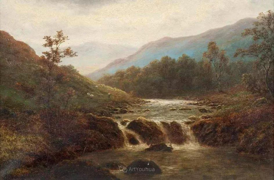 沐浴在温暖、明亮阳光下的原始风景,英国艺术家威廉·梅勒插图19