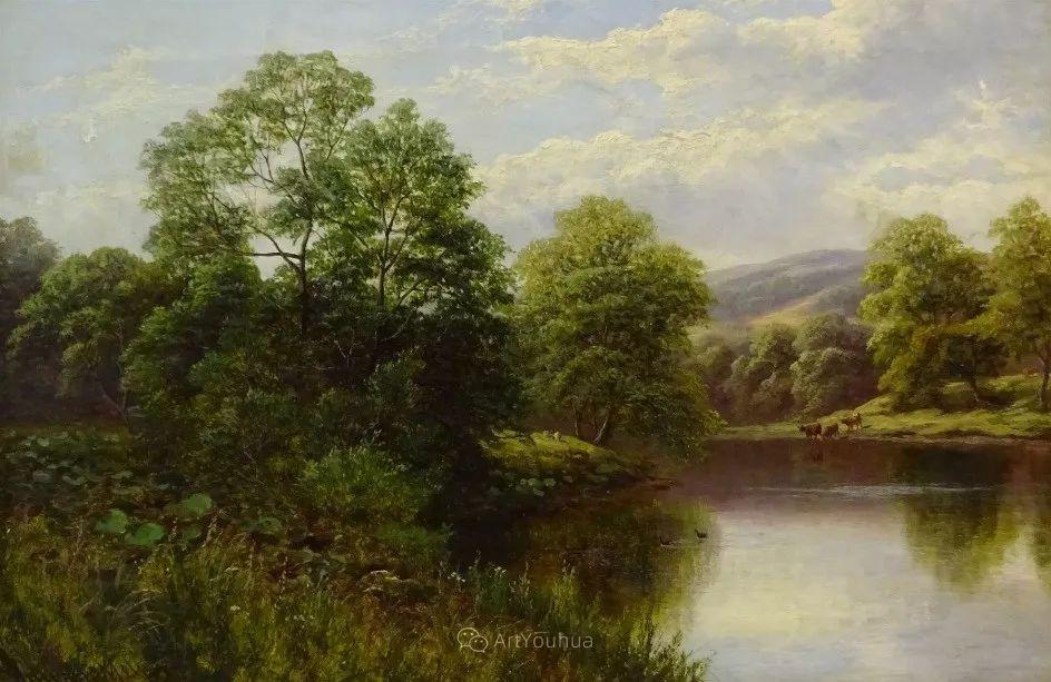 沐浴在温暖、明亮阳光下的原始风景,英国艺术家威廉·梅勒插图21
