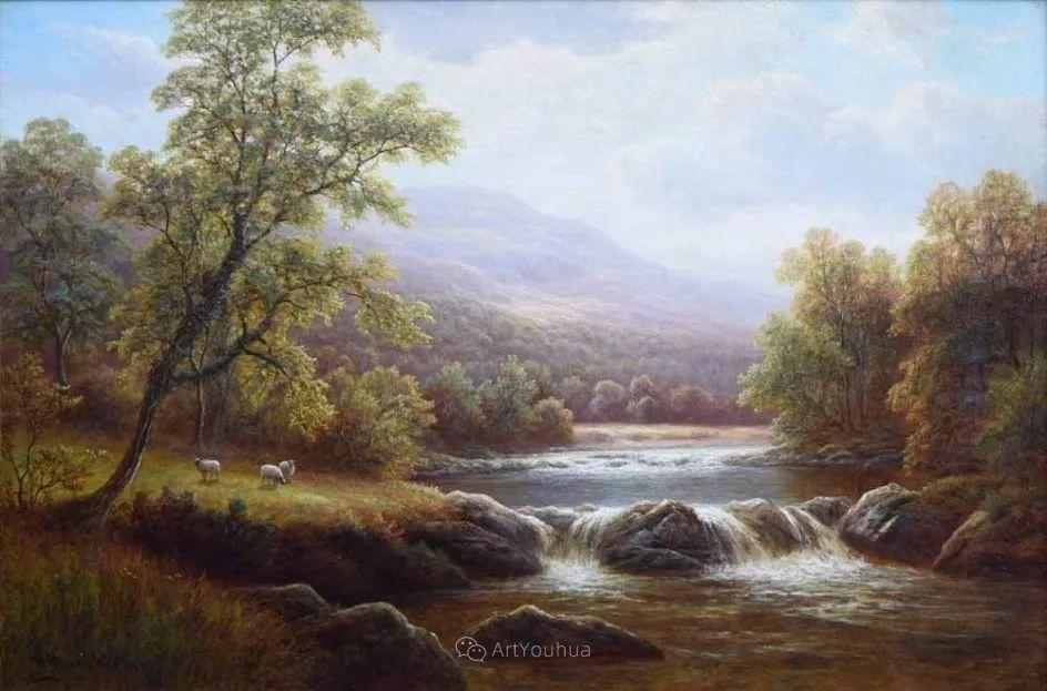 沐浴在温暖、明亮阳光下的原始风景,英国艺术家威廉·梅勒插图22