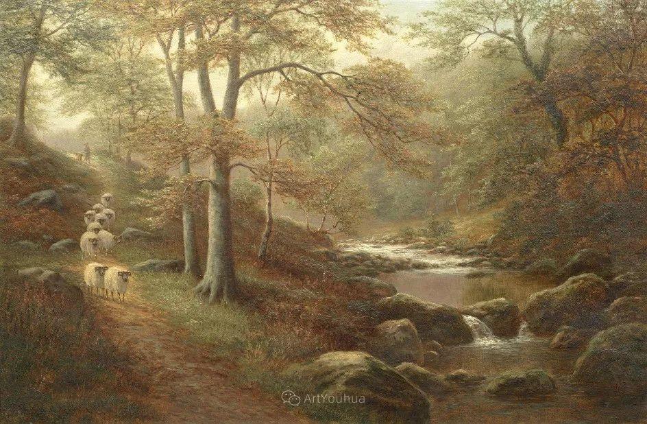 沐浴在温暖、明亮阳光下的原始风景,英国艺术家威廉·梅勒插图23