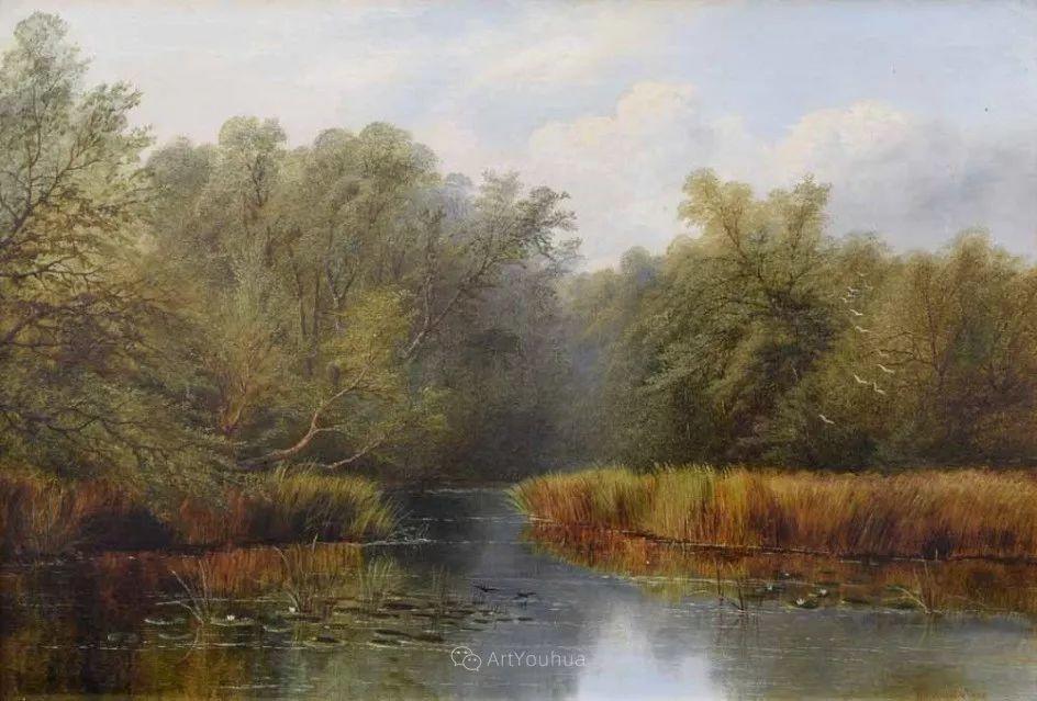 沐浴在温暖、明亮阳光下的原始风景,英国艺术家威廉·梅勒插图25
