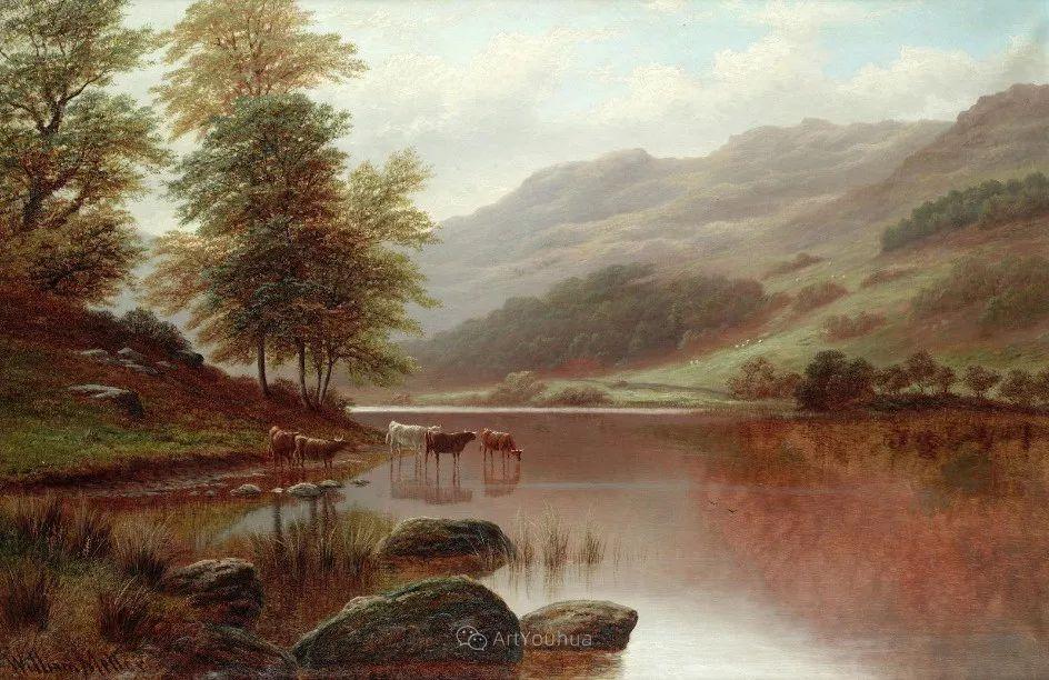 沐浴在温暖、明亮阳光下的原始风景,英国艺术家威廉·梅勒插图27