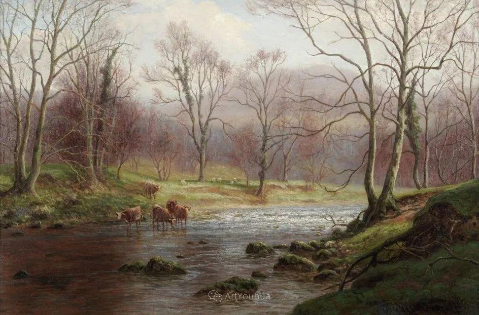 沐浴在温暖、明亮阳光下的原始风景,英国艺术家威廉·梅勒插图28