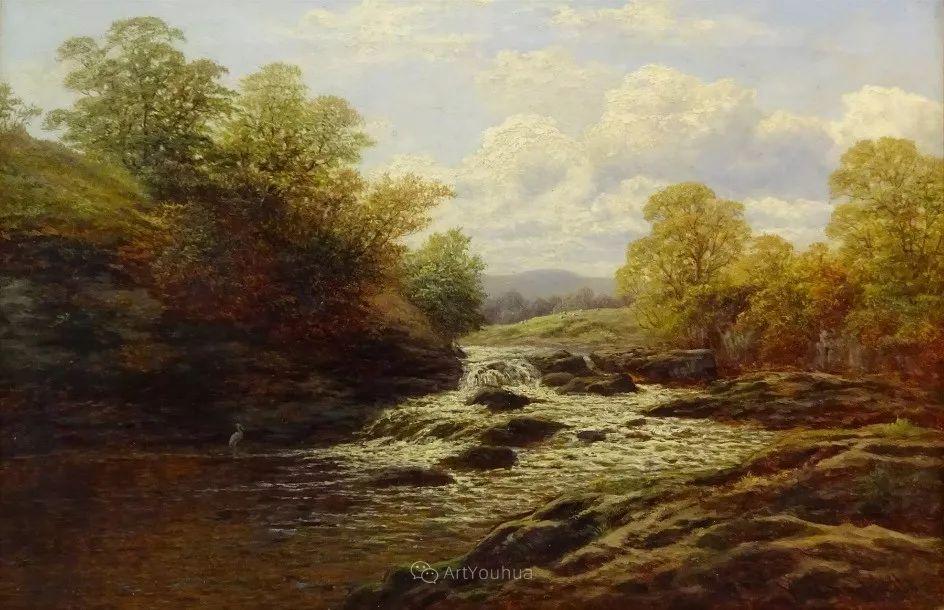 沐浴在温暖、明亮阳光下的原始风景,英国艺术家威廉·梅勒插图29