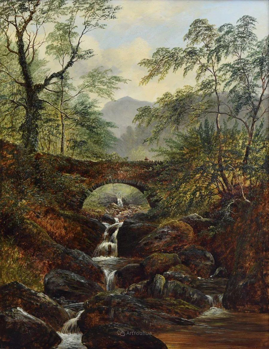 沐浴在温暖、明亮阳光下的原始风景,英国艺术家威廉·梅勒插图31
