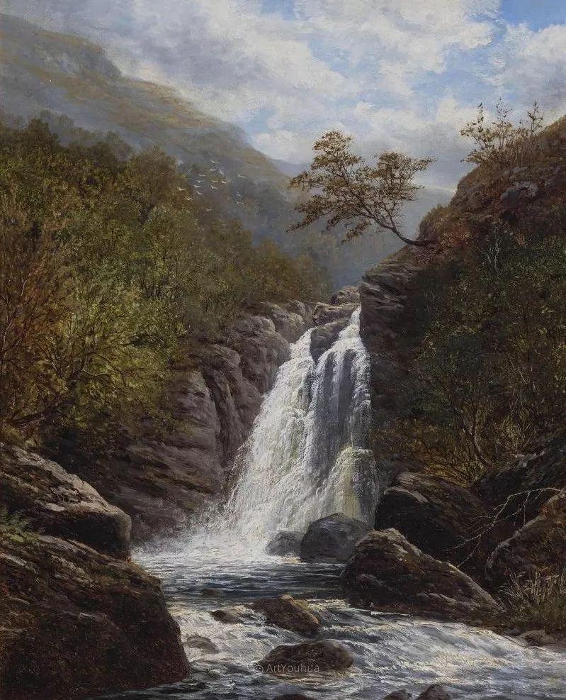 沐浴在温暖、明亮阳光下的原始风景,英国艺术家威廉·梅勒插图33