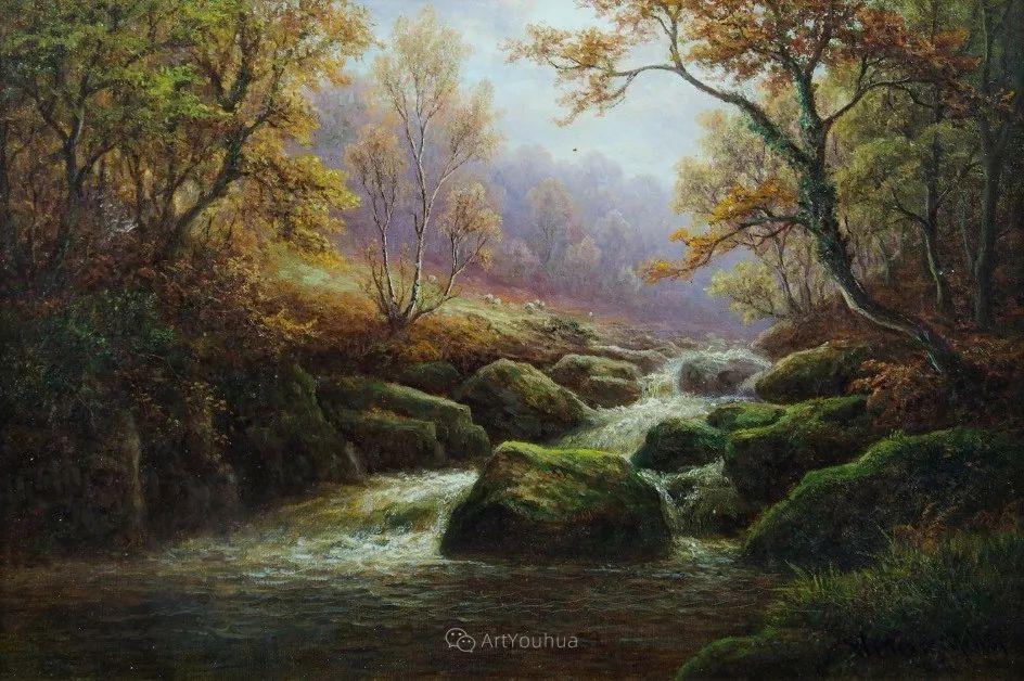 沐浴在温暖、明亮阳光下的原始风景,英国艺术家威廉·梅勒插图35
