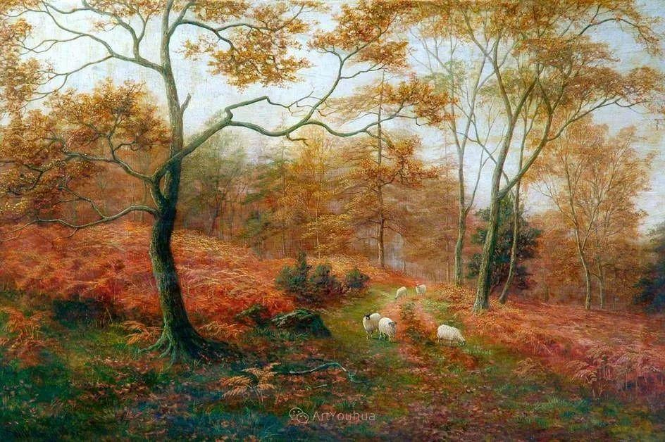 沐浴在温暖、明亮阳光下的原始风景,英国艺术家威廉·梅勒插图36