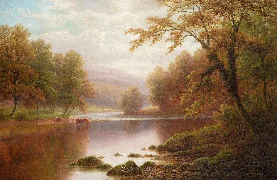 沐浴在温暖、明亮阳光下的原始风景,英国艺术家威廉·梅勒插图39