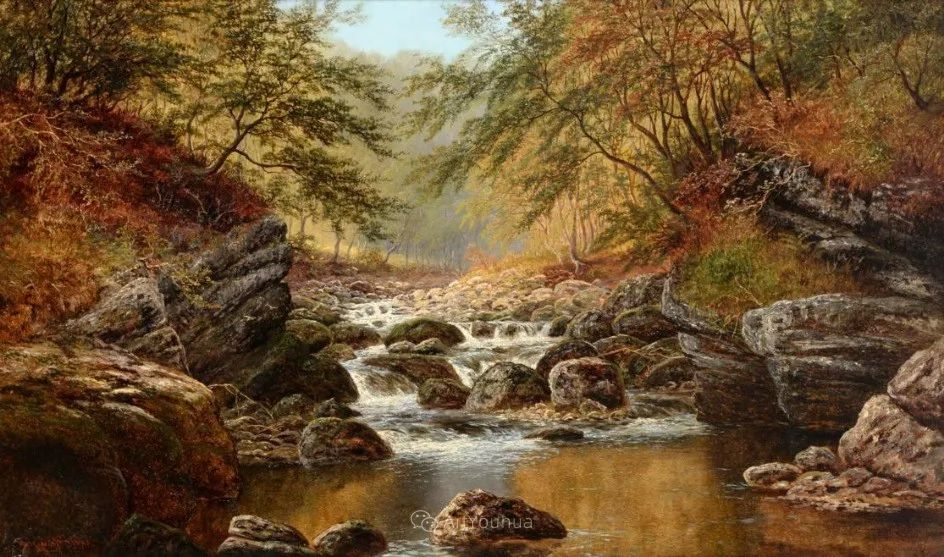 沐浴在温暖、明亮阳光下的原始风景,英国艺术家威廉·梅勒插图40