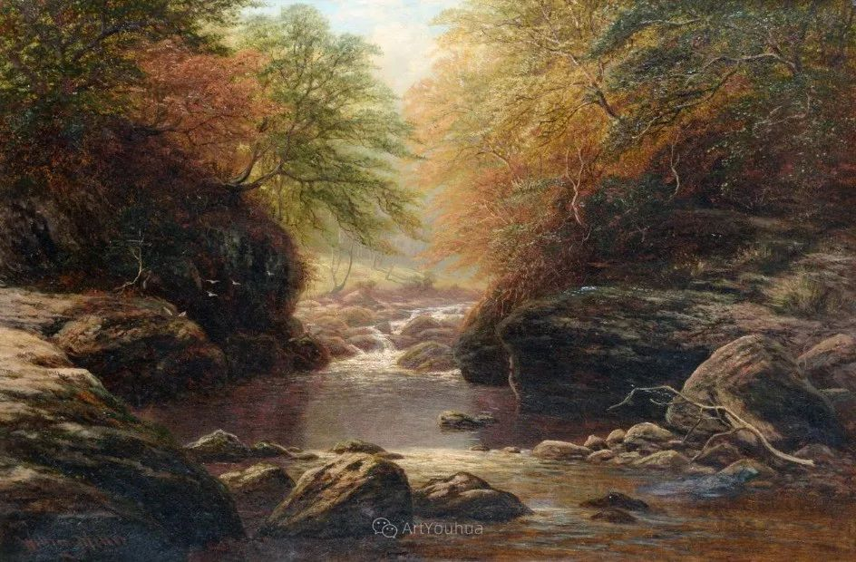 沐浴在温暖、明亮阳光下的原始风景,英国艺术家威廉·梅勒插图41