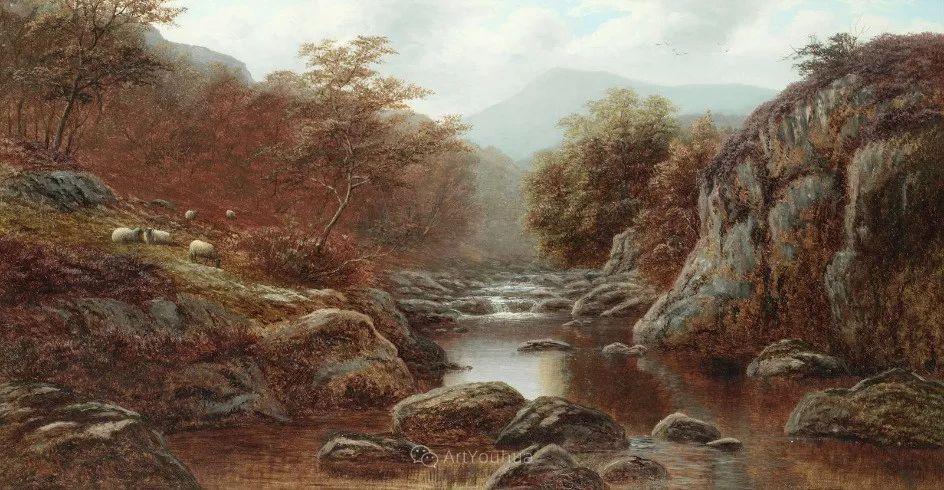 沐浴在温暖、明亮阳光下的原始风景,英国艺术家威廉·梅勒插图42