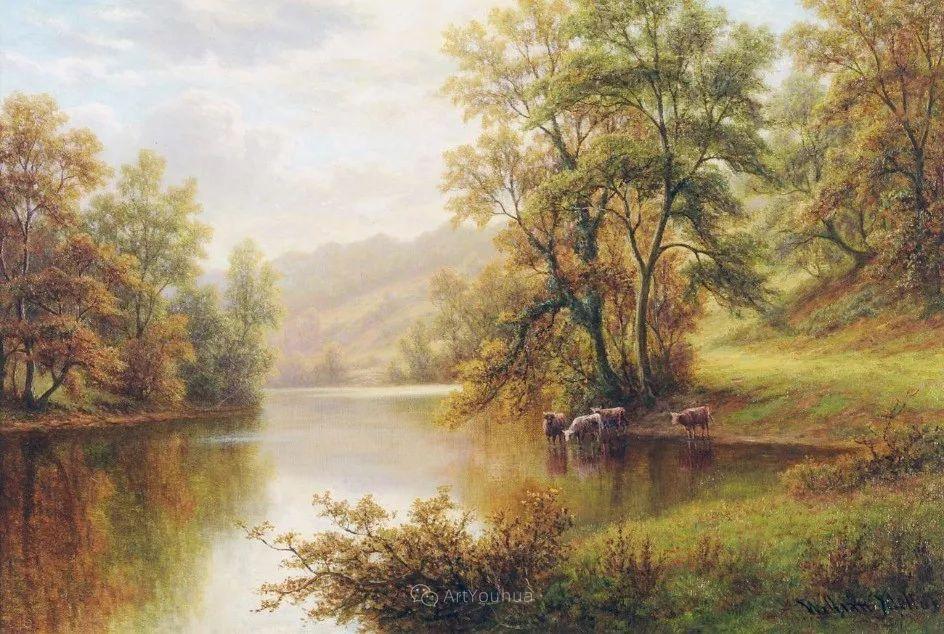 沐浴在温暖、明亮阳光下的原始风景,英国艺术家威廉·梅勒插图43