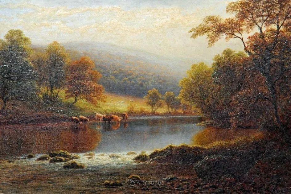 沐浴在温暖、明亮阳光下的原始风景,英国艺术家威廉·梅勒插图44