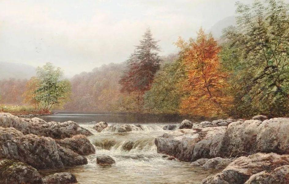 沐浴在温暖、明亮阳光下的原始风景,英国艺术家威廉·梅勒插图47