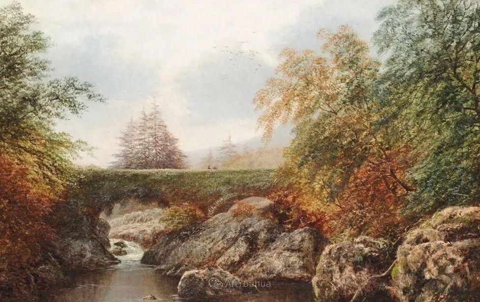 沐浴在温暖、明亮阳光下的原始风景,英国艺术家威廉·梅勒插图48