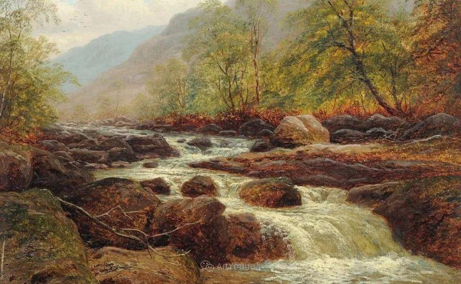 沐浴在温暖、明亮阳光下的原始风景,英国艺术家威廉·梅勒插图49