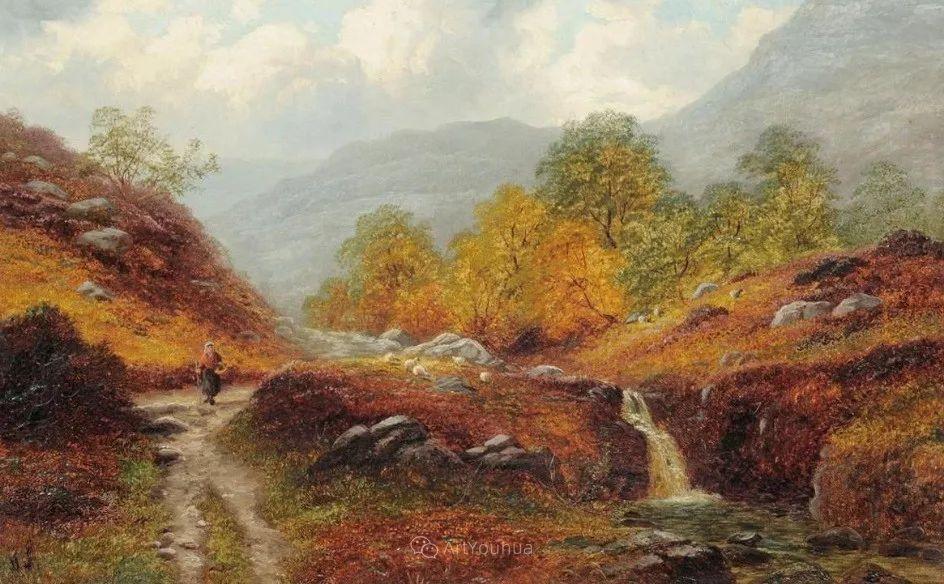 沐浴在温暖、明亮阳光下的原始风景,英国艺术家威廉·梅勒插图50