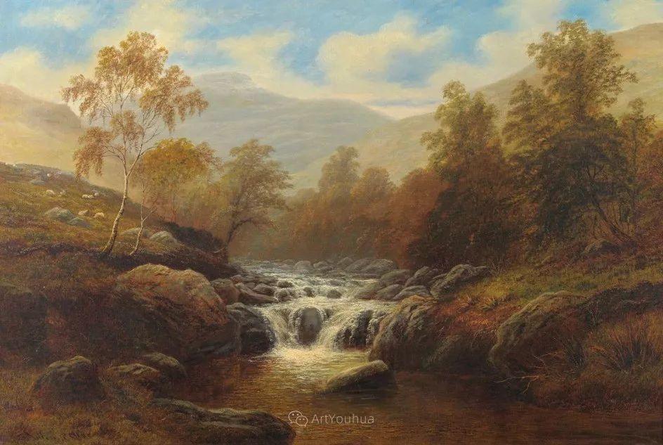 沐浴在温暖、明亮阳光下的原始风景,英国艺术家威廉·梅勒插图51