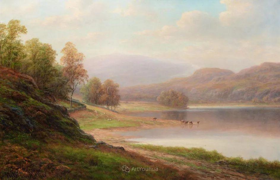 沐浴在温暖、明亮阳光下的原始风景,英国艺术家威廉·梅勒插图52