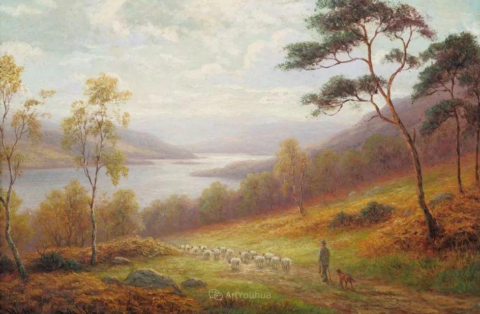 沐浴在温暖、明亮阳光下的原始风景,英国艺术家威廉·梅勒插图54