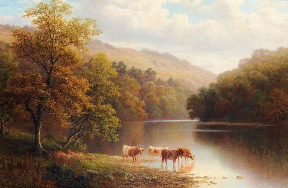 沐浴在温暖、明亮阳光下的原始风景,英国艺术家威廉·梅勒插图60
