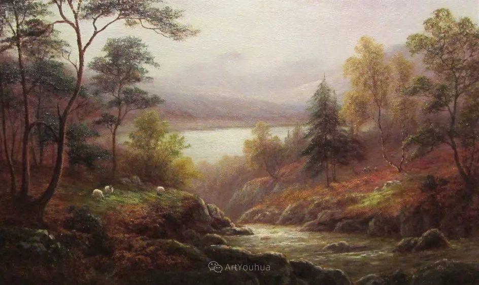 沐浴在温暖、明亮阳光下的原始风景,英国艺术家威廉·梅勒插图61