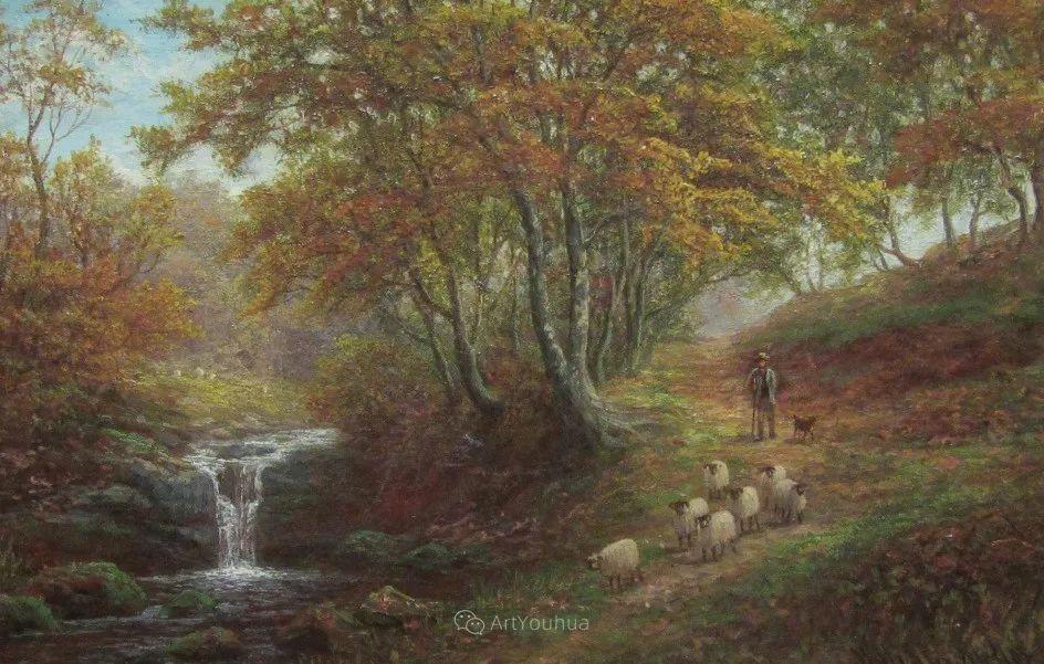 沐浴在温暖、明亮阳光下的原始风景,英国艺术家威廉·梅勒插图62