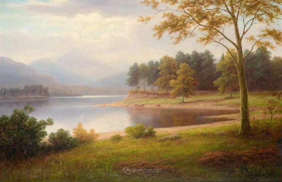 沐浴在温暖、明亮阳光下的原始风景,英国艺术家威廉·梅勒插图63