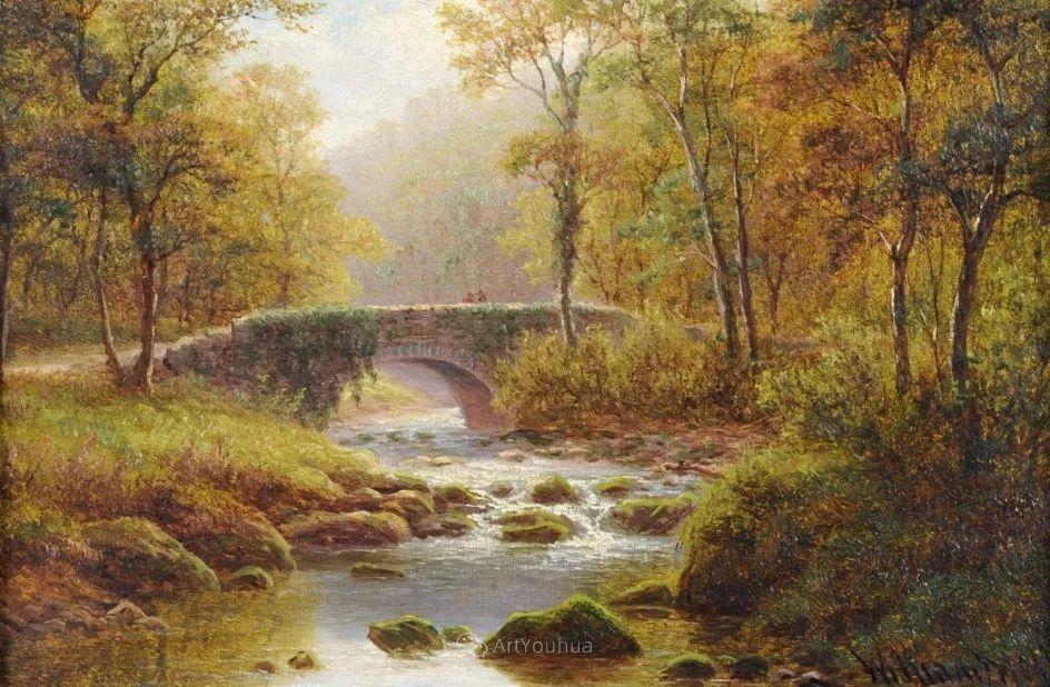 沐浴在温暖、明亮阳光下的原始风景,英国艺术家威廉·梅勒插图64