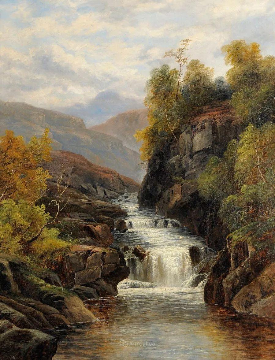 沐浴在温暖、明亮阳光下的原始风景,英国艺术家威廉·梅勒插图65
