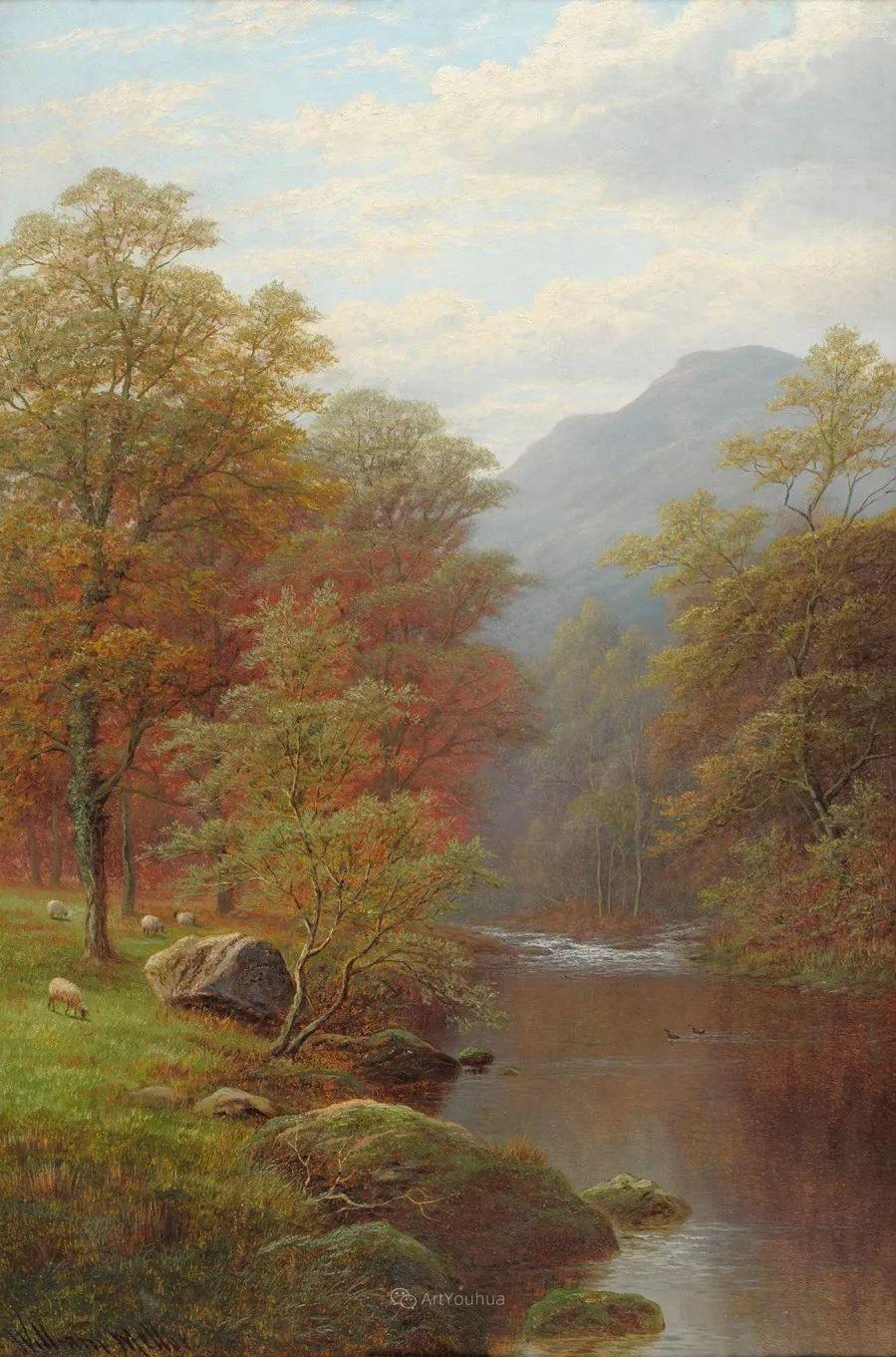 沐浴在温暖、明亮阳光下的原始风景,英国艺术家威廉·梅勒插图66