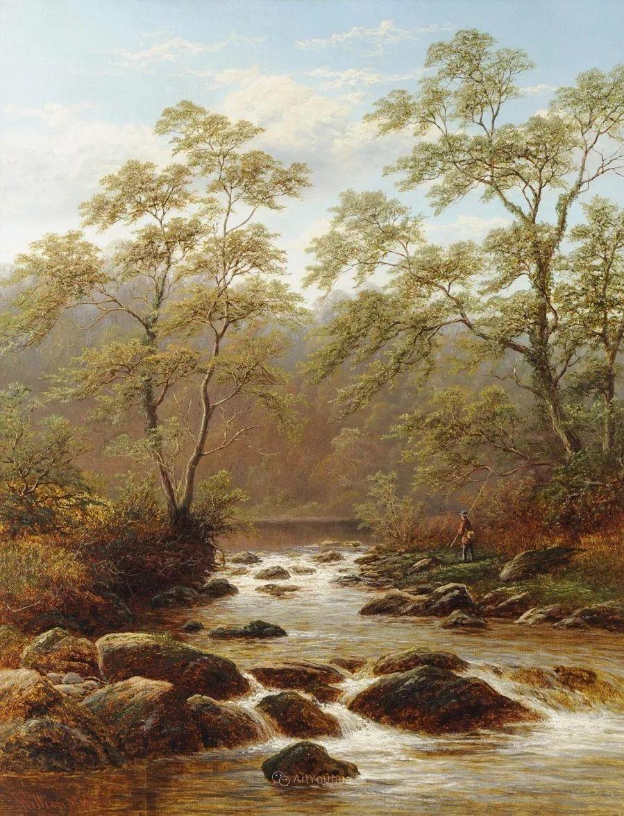 沐浴在温暖、明亮阳光下的原始风景,英国艺术家威廉·梅勒插图67