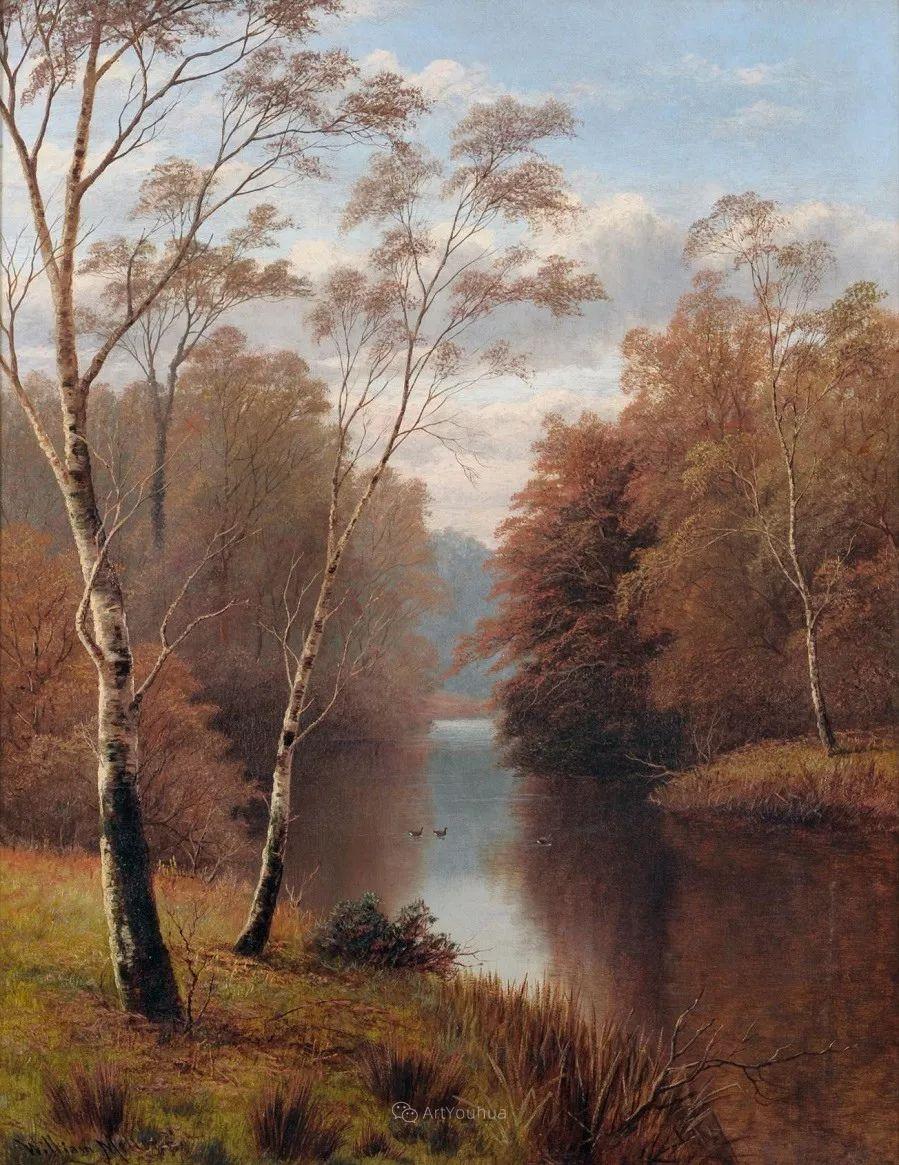 沐浴在温暖、明亮阳光下的原始风景,英国艺术家威廉·梅勒插图68