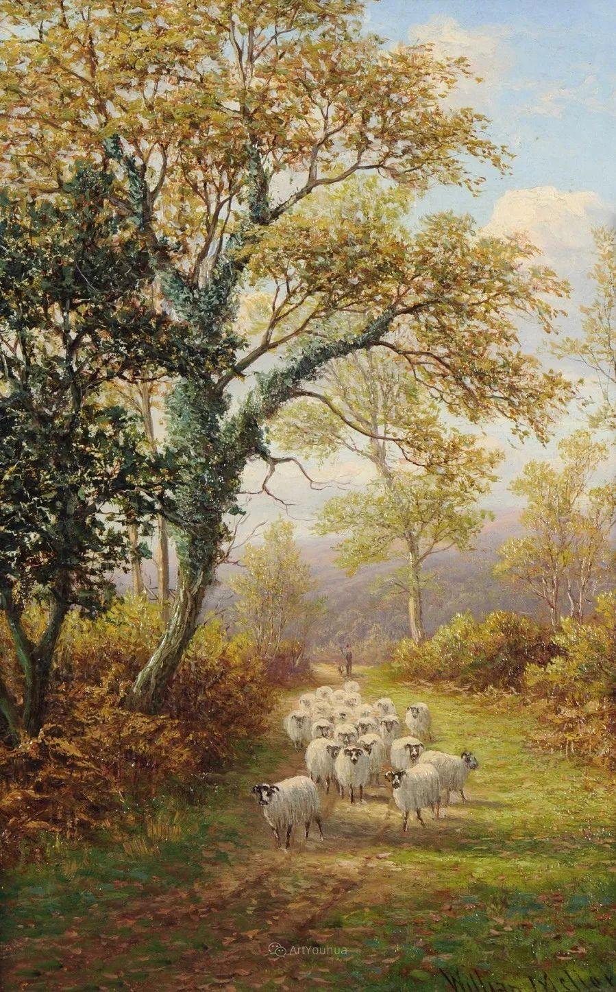 沐浴在温暖、明亮阳光下的原始风景,英国艺术家威廉·梅勒插图69