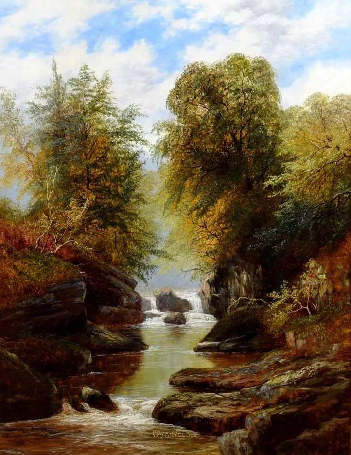 沐浴在温暖、明亮阳光下的原始风景,英国艺术家威廉·梅勒插图72