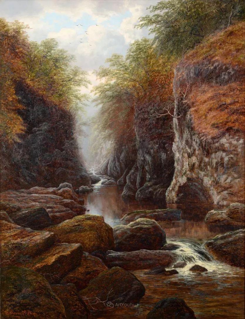 沐浴在温暖、明亮阳光下的原始风景,英国艺术家威廉·梅勒插图73