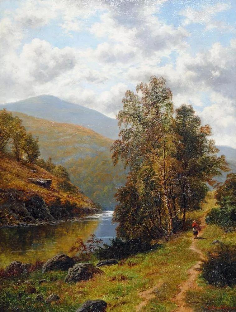 沐浴在温暖、明亮阳光下的原始风景,英国艺术家威廉·梅勒插图74