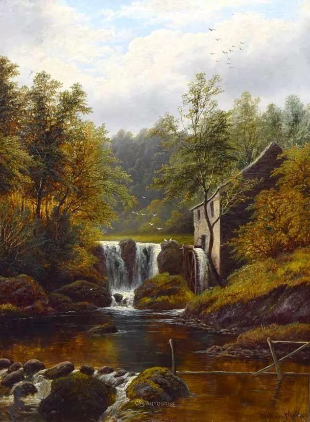 沐浴在温暖、明亮阳光下的原始风景,英国艺术家威廉·梅勒插图76