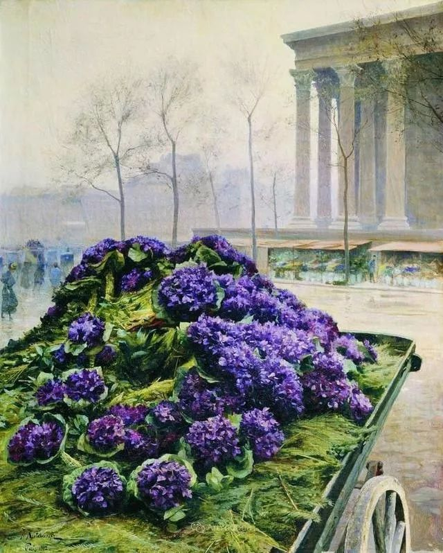 风景画,俄罗斯艺术家约瑟夫·克拉奇科夫斯基(1854-1914)插图51