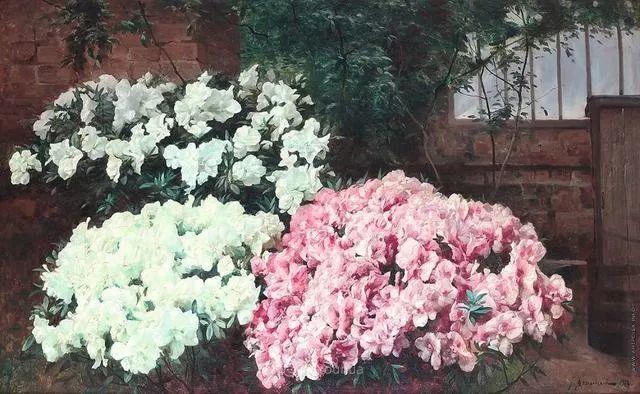 风景画,俄罗斯艺术家约瑟夫·克拉奇科夫斯基(1854-1914)插图53