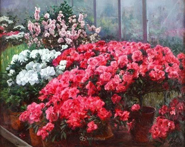 风景画,俄罗斯艺术家约瑟夫·克拉奇科夫斯基(1854-1914)插图61