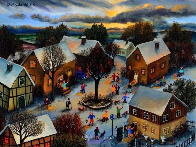 天真充满奇观的世界,德国画家Olaf Ulbricht插图