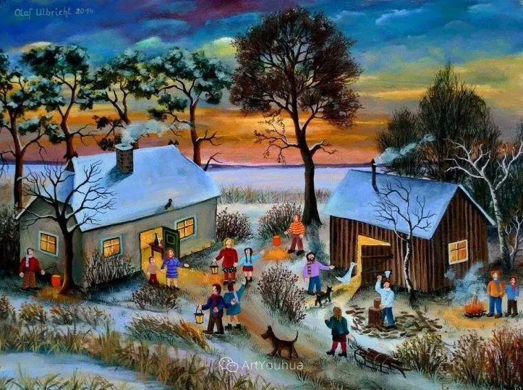 天真充满奇观的世界,德国画家Olaf Ulbricht插图3