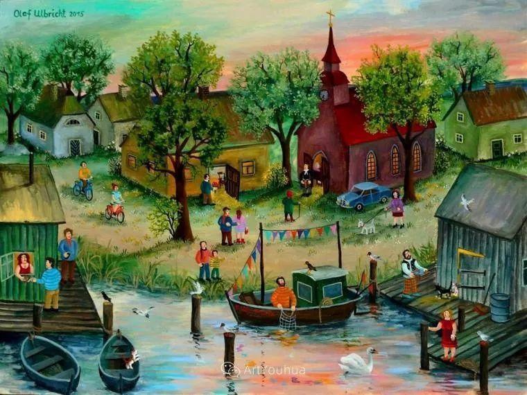 天真充满奇观的世界,德国画家Olaf Ulbricht插图24