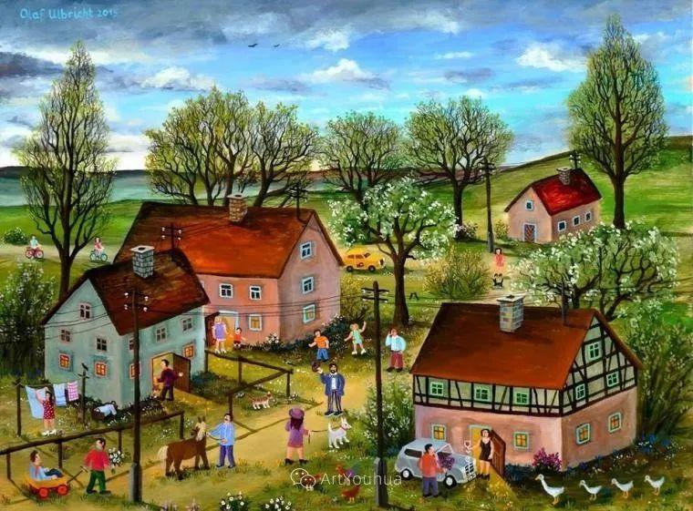 天真充满奇观的世界,德国画家Olaf Ulbricht插图25