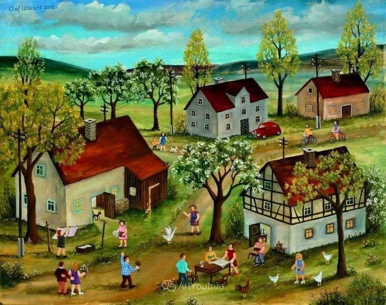 天真充满奇观的世界,德国画家Olaf Ulbricht插图26