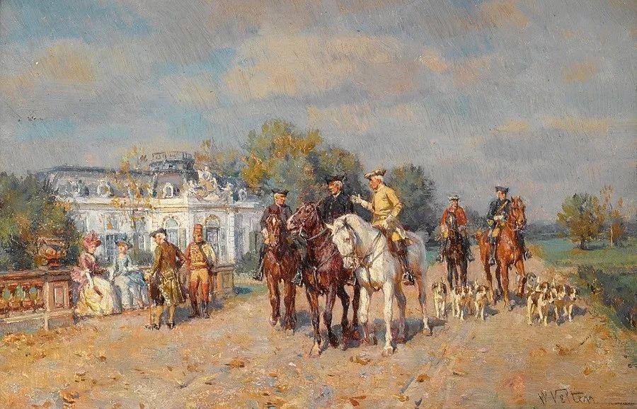 俄罗斯艺术家Wilhelm Velten(1847-1929)插图1