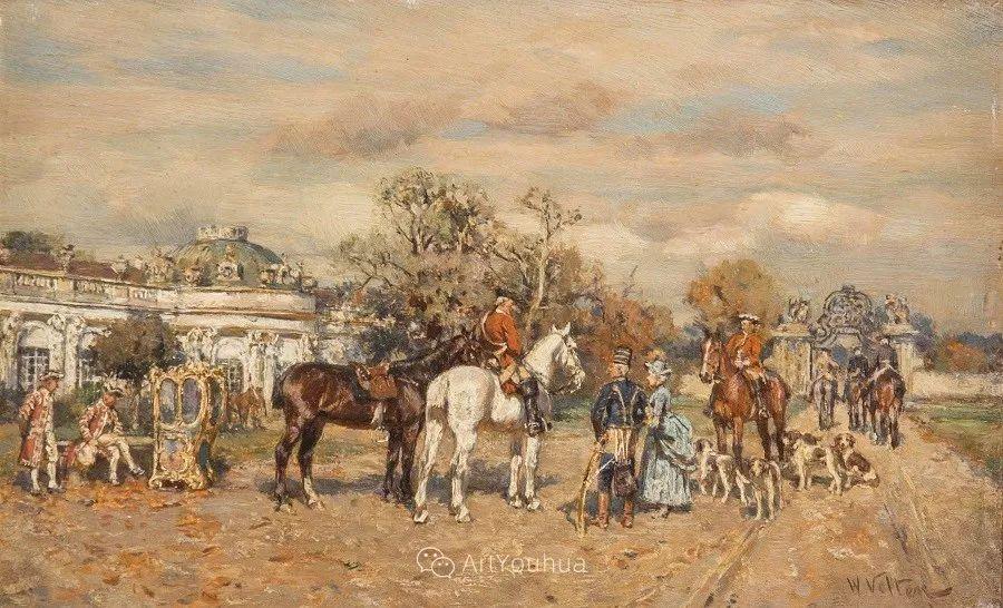 俄罗斯艺术家Wilhelm Velten(1847-1929)插图3