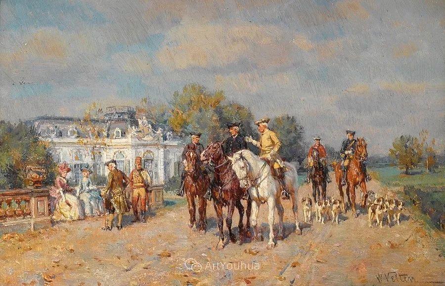 俄罗斯艺术家Wilhelm Velten(1847-1929)插图5